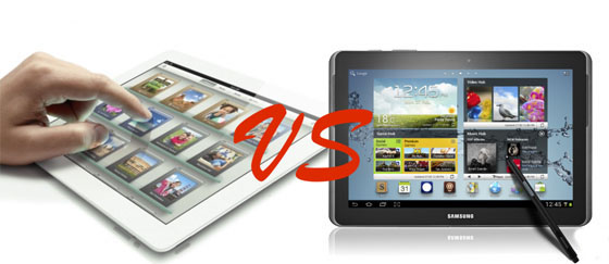 Samsung Galaxy Note 10.1 против Apple iPad 3
