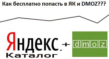 Как бесплатно попасть в Яндекс.Каталог (ЯК) и DMOZ каталог?